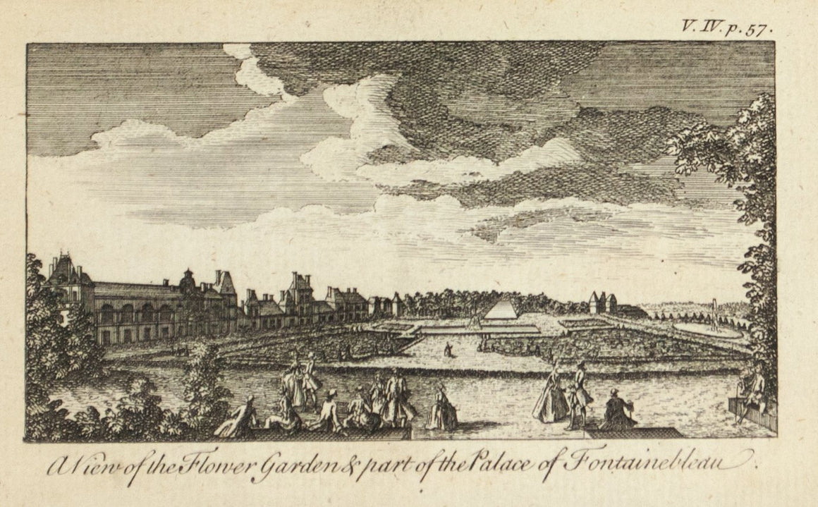 1774 Flower Gardens & Palace of Fontainebleau - Rigaud