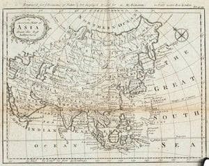 1774 An Accurate Map of Asia from the Best Authorities - J Gibson