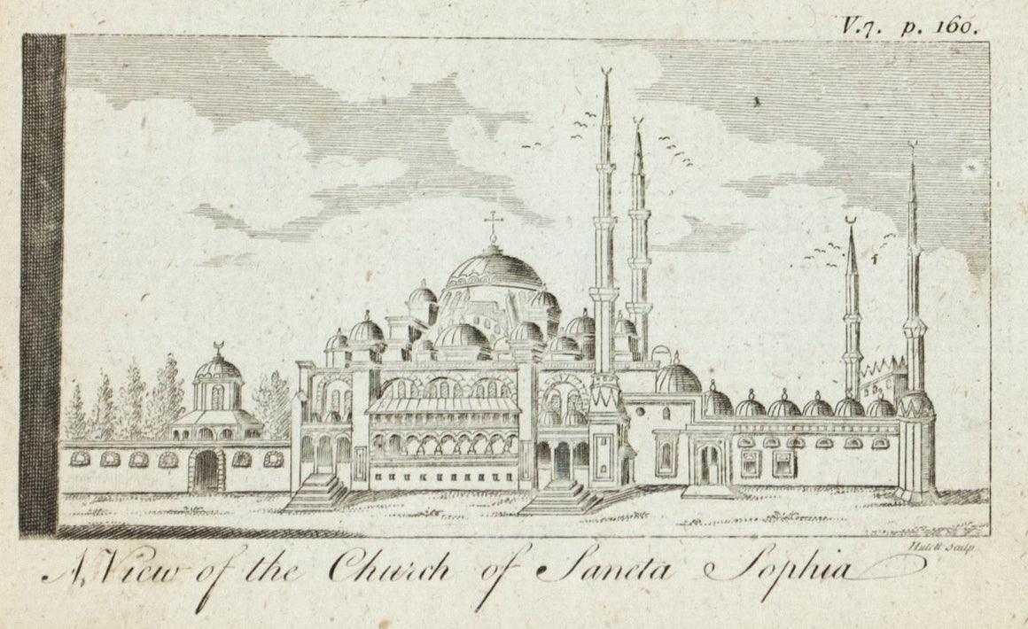 1774 A View of the Church of Sancta Sophia - Hulett
