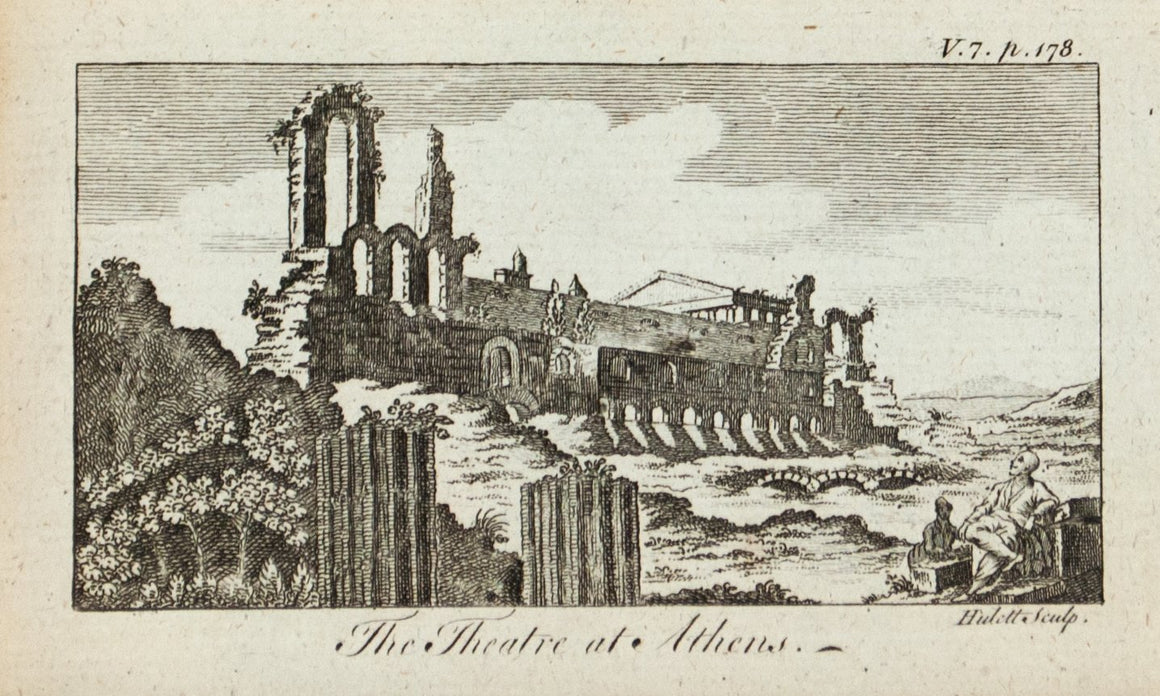 1774 The Theatre at Athens - Hulett