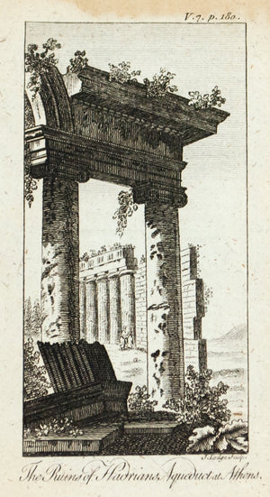 1774 Hadrian's Aqueduct at Athens - J Lodge