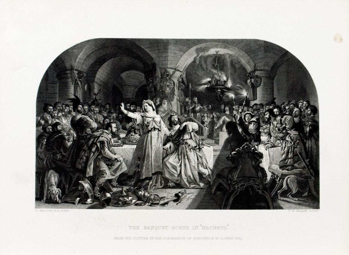 1879 The Banquet Scene in Macbeth - Maclise