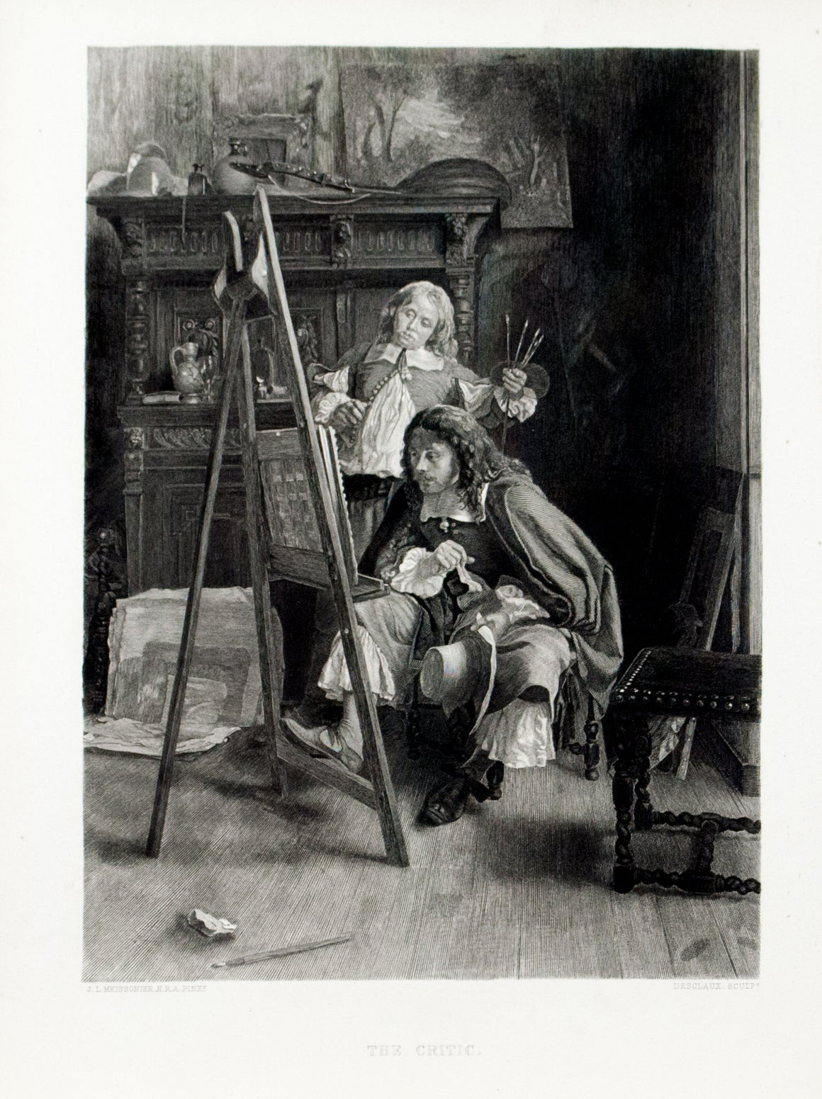 1879 The Critic - Meissonier