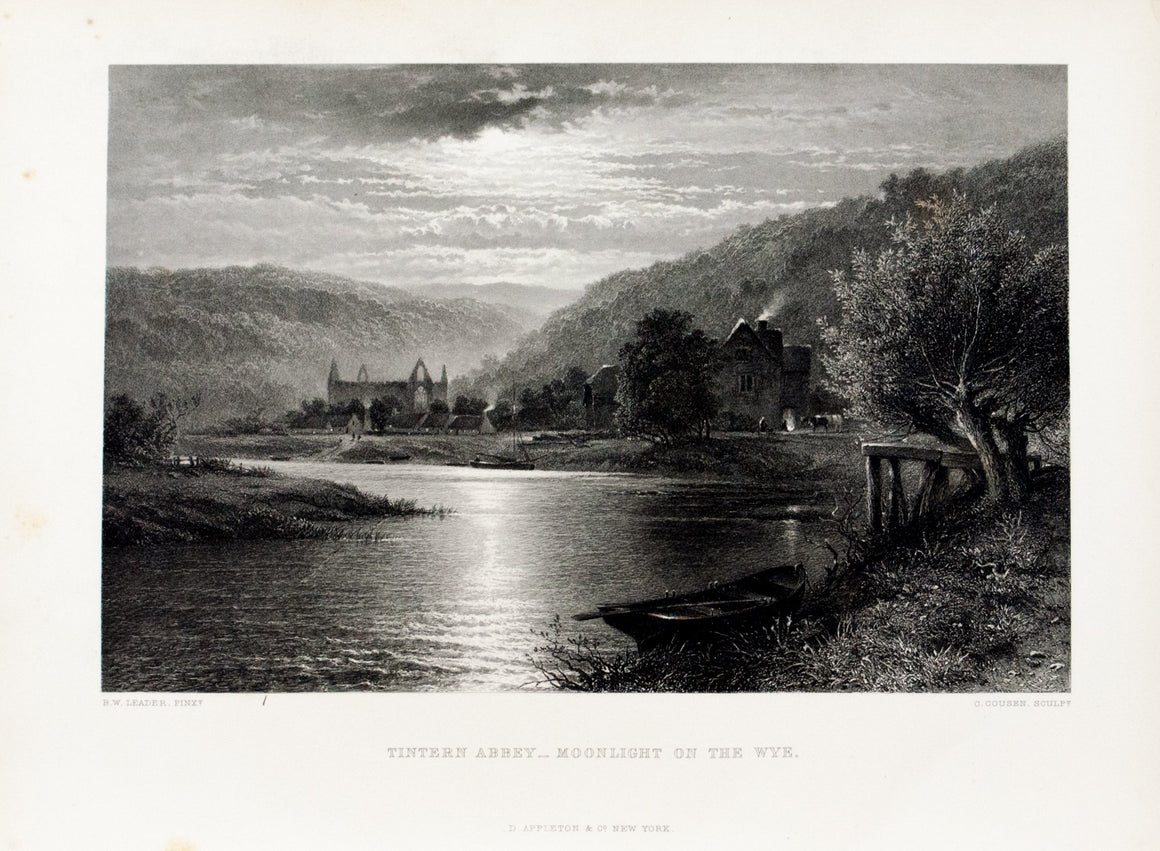 1875 Tintern Abbey, Moonlight on the Wye - Leader