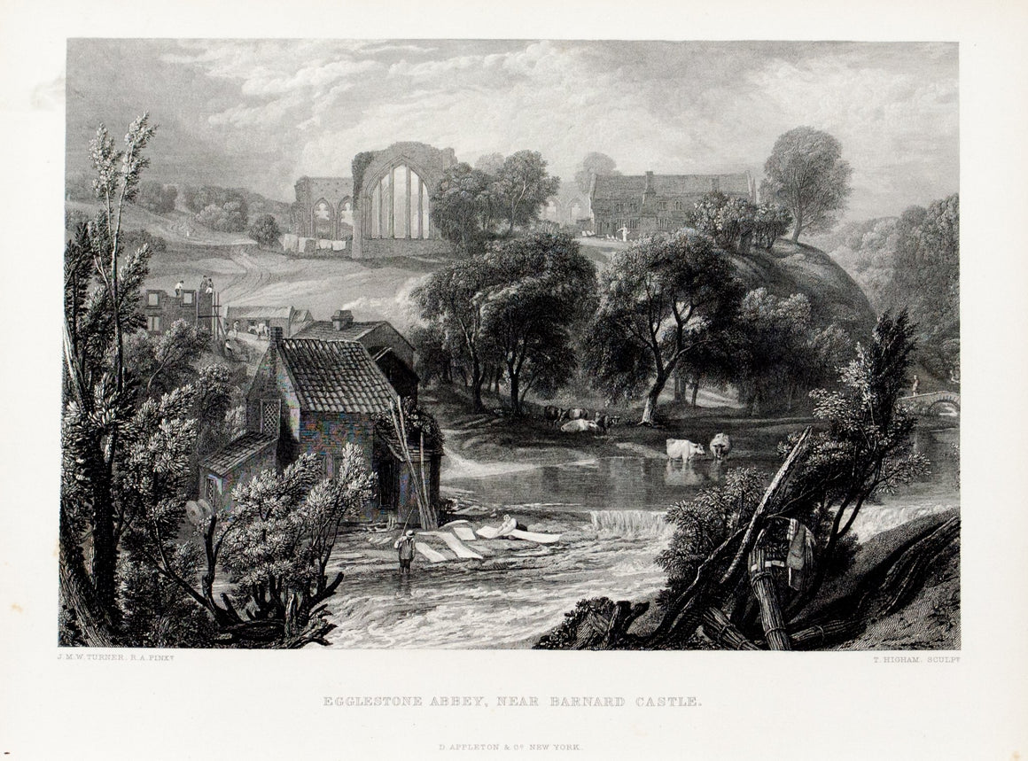 1875 Egglestone Abbey Near Barnard Castle - Turner
