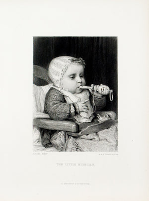 1875 The Little Musician - Anker