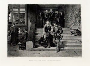1875 Mary Queen of Scots Led to Execution - Pott