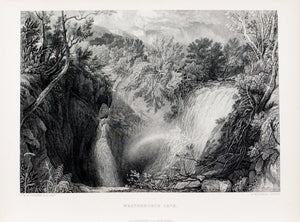 1875 Weathercote Cave Yorkshire - Turner