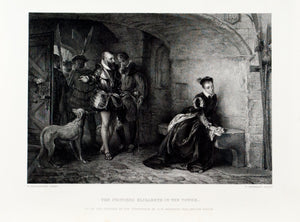 1875 Princess Elizabeth in the Tower - Hillingford