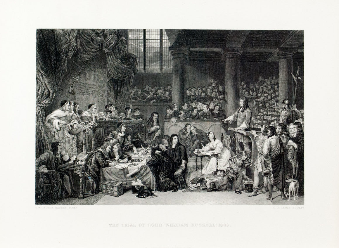 1875 The Trial of Lord William Russell - Hayter