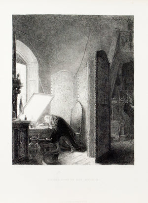 1875 Rembrandt in his Studio - Gerome