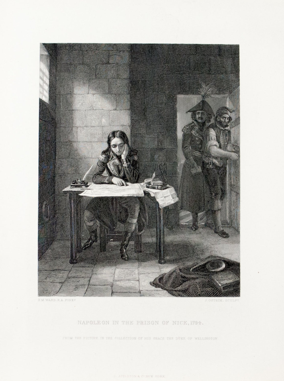 1875 Napoleon in the Prison of Nice 1794 - Ward