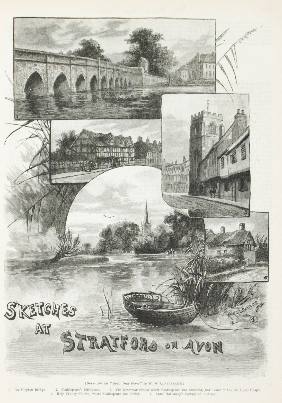 1893 Sketches at Straford on Avon - Quatremain