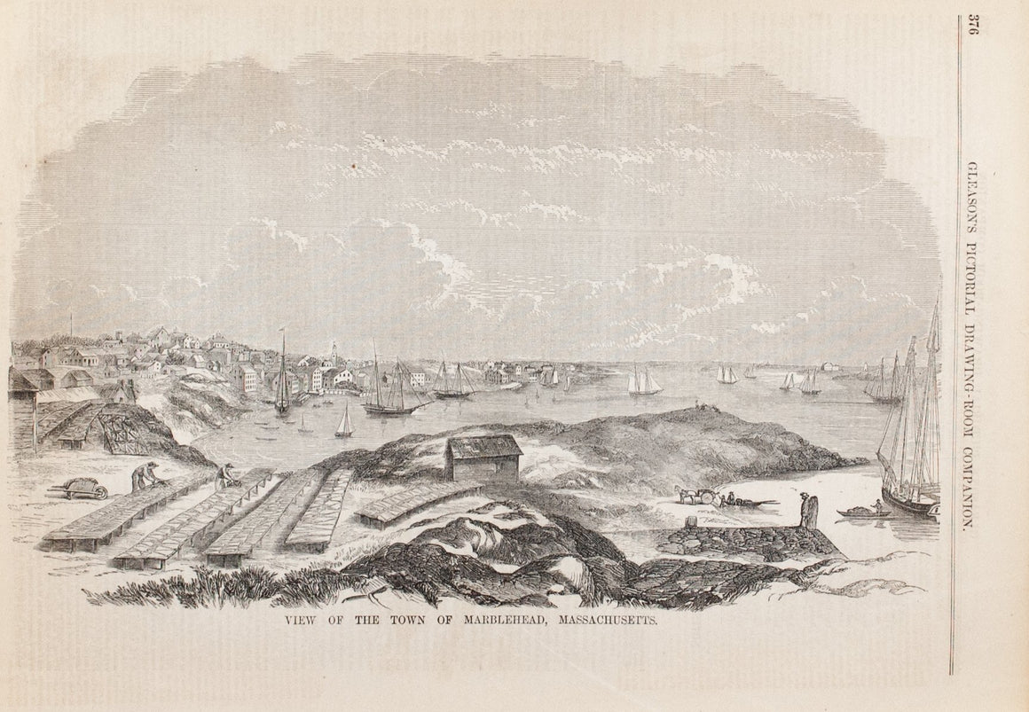 1854 View of Marblehead Massachusetts - Gleason
