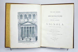 The Five Orders of Architecture According to Giacomo Barozzio of Vignola 1896