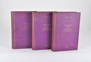 Dictionnaire Biographique Des Artistes Contemporains 1910-1930 Vols 1-3 Paris