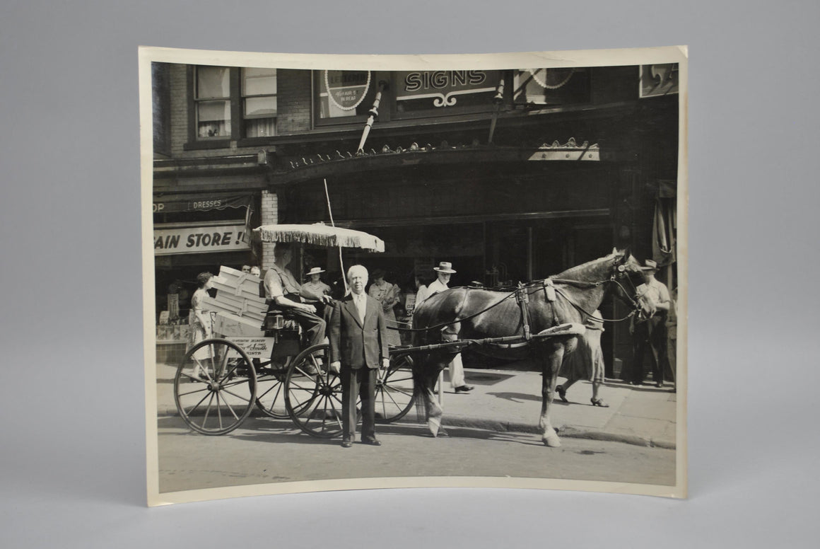Professional Advertising Photo Street Scene Horse & Buggy A