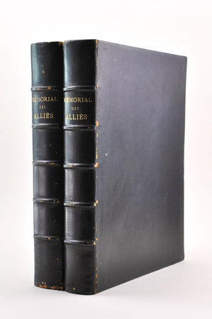Memorial Des Allies 1914 - 1918 2 Vols Societe d'Editions Nationales Illustrated