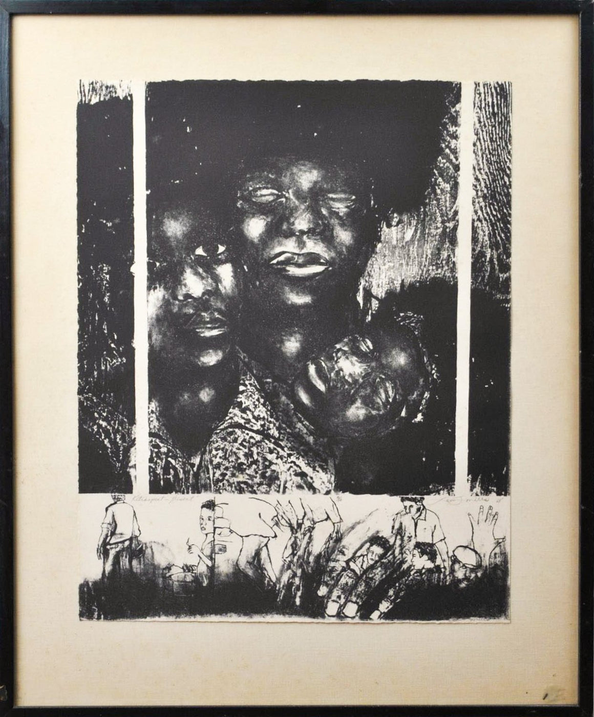 African American Art - Charcoal Drawing - 1968