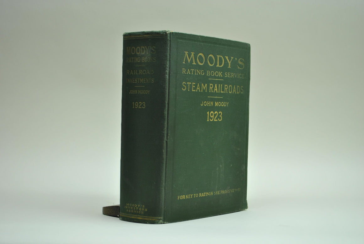Moody's Steam Railroads: 1923 Investments and Security Rating