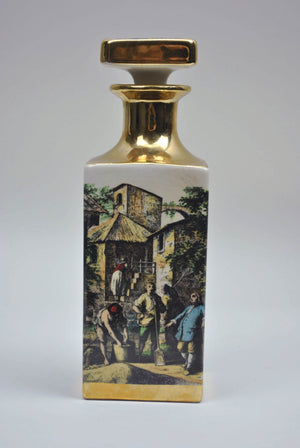 Vintage Italian Decanter Florence Gold Gilt Painted