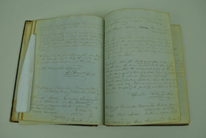 La Crosse and Milwaukee Railroad Handwritten Records 1853-1855