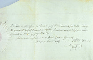 Deed on Vellum Thomfas Goodwin to William Ashmead 1825