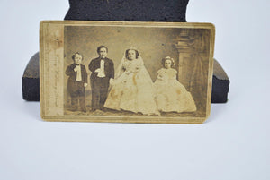 Antique CDV Tom Thumb Lavinia Warren Photo The Fairy Wedding Group Brady 1863