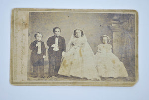"Antique CDV Tom Thumb Lavinia Warren Photo ""The Fairy Wedding Group"" Brady 1863"