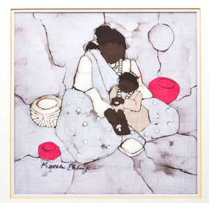 Katalin Ehling Batik  - Mother and Child - Serigraph