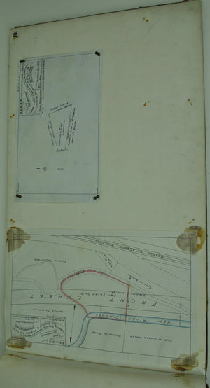 Boston & Albany Railroad Ashland Massachusetts Land Survey Drafting 1844-1892