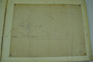 Boston & Albany Railroad Worchester Massachusetts Land Survey Drafting 1859-1893