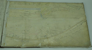 Boston & Albany Railroad Pittsfield Massachusetts to New York Route Plans 1840s