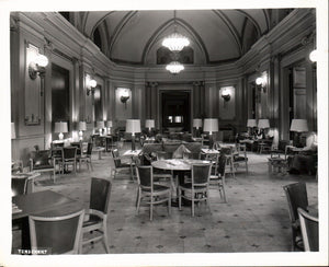 WWII Era Railroad Station Dining Area Photograph