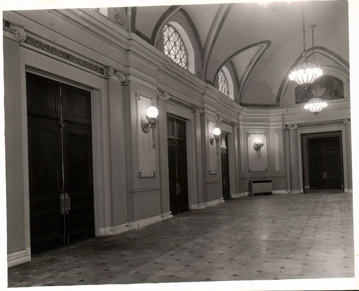 Railroad Station Beautiful Hallway Ornate Fixtures 1951 Photo A