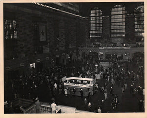 WWII Railroad Grand Central Terminal New York Servicemen's USO Lounge Photo