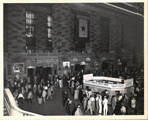 WWII Railroad Grand Central Terminal New York Servicemen Photo