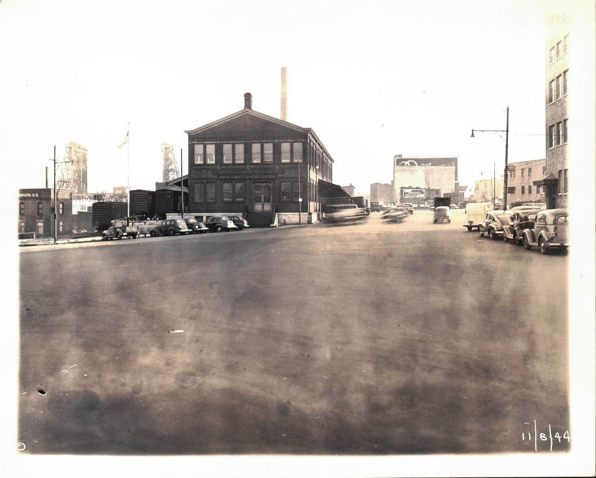 Pennsylvania Railroad River Street Freight Station 1944