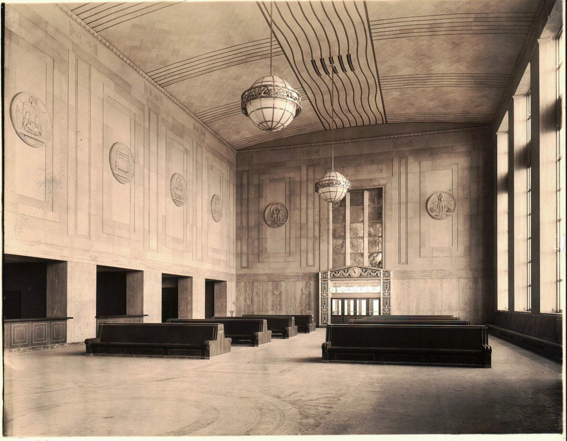 Pennsylvania Railroad Station Waiting Area Art Deco Photograph