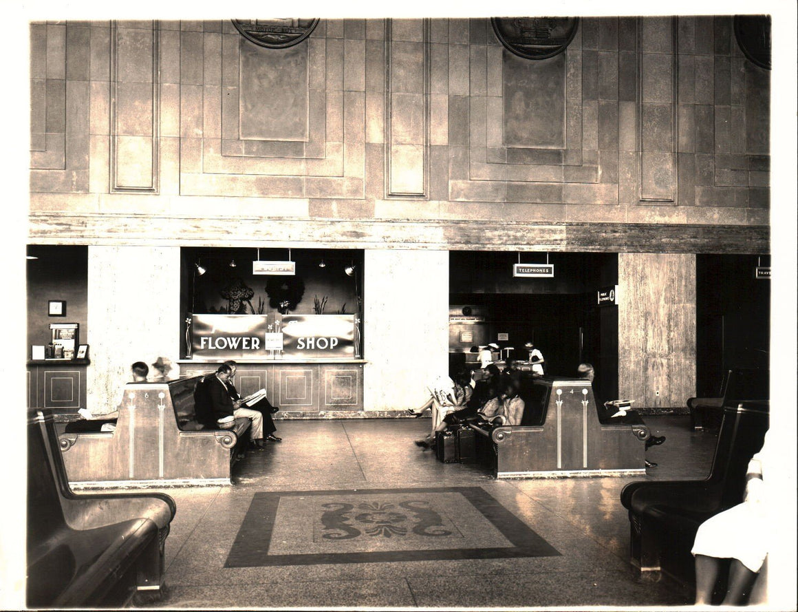 Pennsylvania Railroad Station Newark New Jersey Photograph B