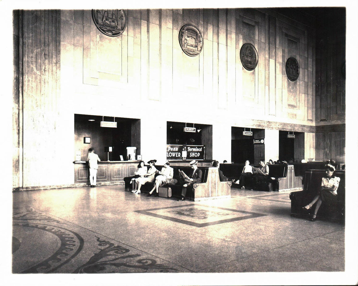 Pennsylvania Railroad Station Newark New Jersey Photograph C