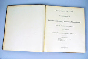 Proceedings International (Water) Boundary Commission United States Mexico 1903