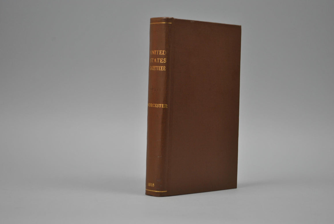 A Gazetteer of the United States by J E Worcester 1818