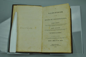 A Gazetteer of the State of Pennsylvania by Thomas F Gordon 1832