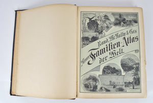 Rand McNally & Co.'s Neuer Familien-Atlas Der Welt German 1891