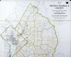 1927 Map of Prince George's County and District of Columbia - Edward Bennett Mathews