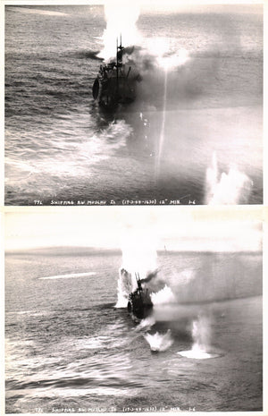 WWII Japanese Shipping Hunting Muschu Island 1944 2 Photos