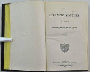 Atlantic Monthly Magazine Jan-Jun 1883