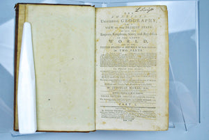 The American Universal Geography Vol I by Jedidiah Morse 1796