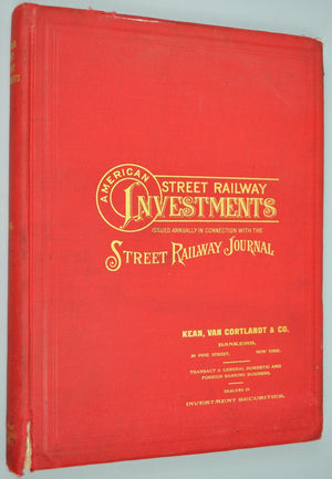 American Street Railway Investments 1904 New York City Chicago San Francisco